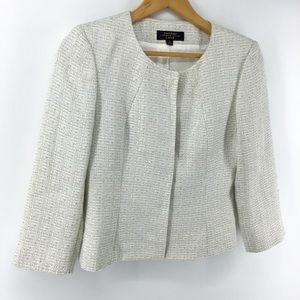 Tahari Luxe ASL | Hidden Button Blazer Jacket